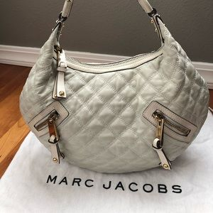 Authentic Marc Jacobs Quilted Leather Hobo Handbag